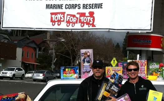MB JESSEE Painting Helps Out Toys for Tots!