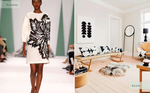 Home Design Inspiration is Everywhere - Even Fashion Week.