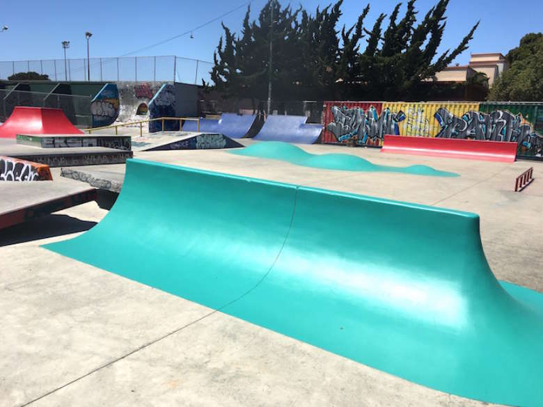 Cleaning and Painting a Skatepark in the Oakland, CA Area