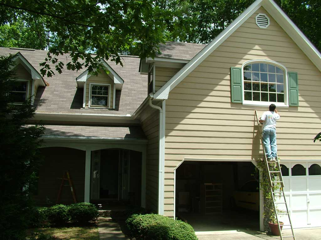 How often does an exterior of a house need painting in the Outside house